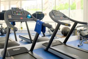 Das Fitnesscenter und/oder die Fitnesseinrichtungen in der Unterkunft Park Inn by Radisson