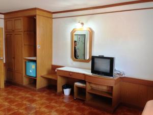 A television and/or entertainment centre at The New Villa