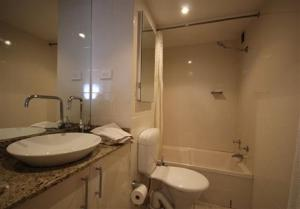 A bathroom at Savoy