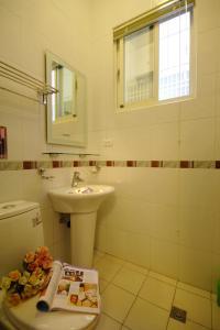 A bathroom at Green Villa B&B