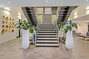 The lobby or reception area at Quest Frankston on the Bay