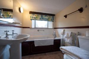 A bathroom at Cwmwennol Country House
