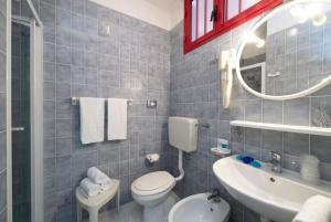 Koupelna v ubytování Hotel Vienna