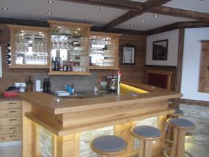 Lounge nebo bar v ubytování Hotel Garni Landhaus Trenkenbach