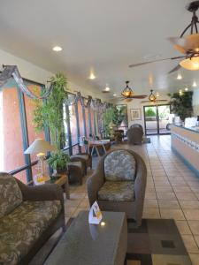 The lobby or reception area at Travelodge by Wyndham Palm Springs