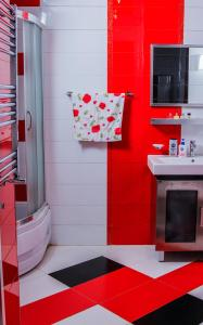 Um banheiro em Luxurious apartment in the center