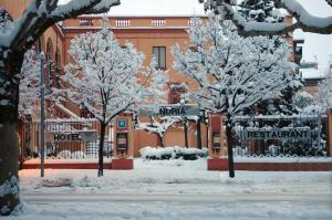 Hotel Andria in de winter