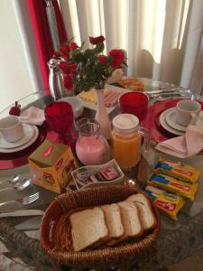 Breakfast options available to guests at Hotel Gaucha