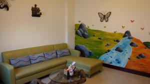 A seating area at 168 Living Water