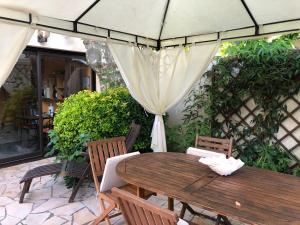 Terrasse ou espace extérieur de l'établissement La palmeraie