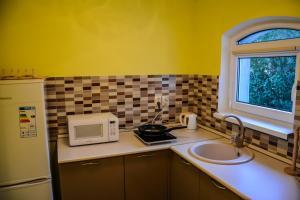 A kitchen or kitchenette at Мини-гостиница на Куршской Косе п.Рыбачий