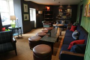 The lounge or bar area at The Manor House Hotel