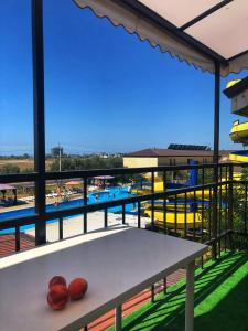 Вид на бассейн в Akvapark-house или окрестностях