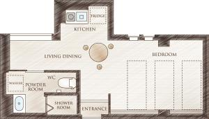 The floor plan of Hotel SAILS
