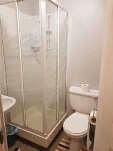 A bathroom at The Friar Tucks