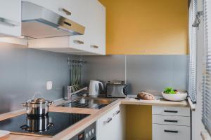 Küche/Küchenzeile in der Unterkunft Ferienapartment Bergstation