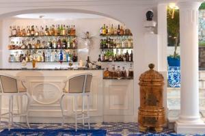 The lounge or bar area at Casa Morgano