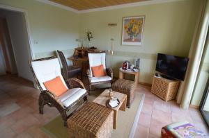 Ein Sitzbereich in der Unterkunft Landhotel Maarheide