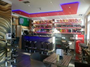 The lounge or bar area at Aristo