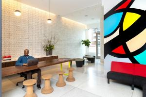 The lobby or reception area at Pod Times Square