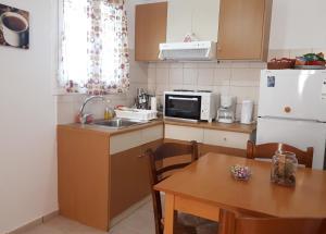 Η κουζίνα ή μικρή κουζίνα στο Studio Zafiria