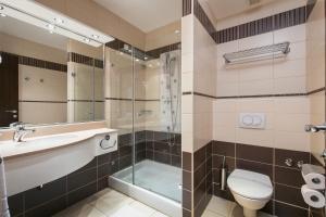 Koupelna v ubytování Hotel Croatia