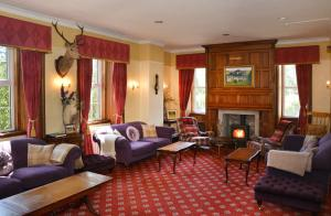 A seating area at Dalmunzie Castle Hotel