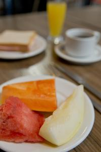 Breakfast options available to guests at Hotel Vallér