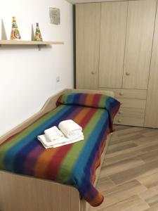 Letto o letti in una camera di Casa Franziska