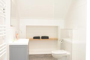 Een badkamer bij Zilte Hoeve Zoutelande