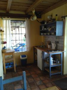 Kuchyň nebo kuchyňský kout v ubytování Penzion u sluníčka