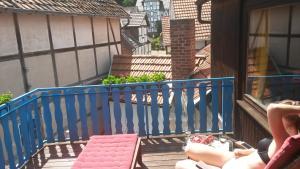 Ein Balkon oder eine Terrasse in der Unterkunft Haus Alice