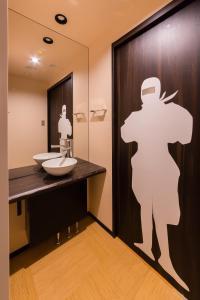 A bathroom at SARASA HOTEL Namba