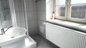 A bathroom at Apartment Hornický dům