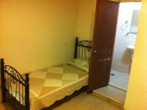 Кровать или кровати в номере Palm Hostel