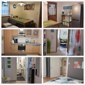 Küche/Küchenzeile in der Unterkunft Ferienwohnung Haller
