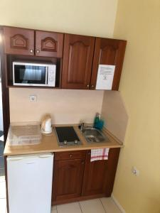A kitchen or kitchenette at Mosoly Apartman