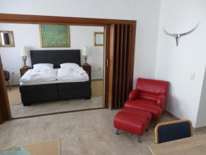 A bed or beds in a room at Zur Saale