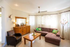 Uma área de estar em Villa Cle - Curaçao