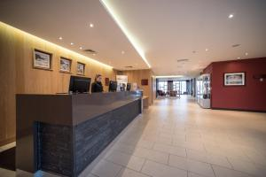 The lobby or reception area at The Moorfield Hotel