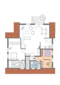 Grundriss der Unterkunft Ferienwohnungen Wyk/Föhr