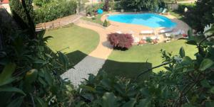 A view of the pool at Villa Nicolai tra Mare e Montagna or nearby