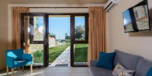 Χώρος καθιστικού στο Glafki Luxury Apartments
