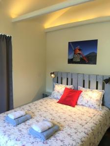 Cama ou camas em um quarto em Casa do Almance