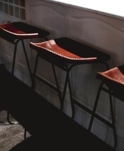 A seating area at Tre Sorelle Camden