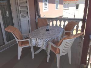 A balcony or terrace at Apartments Vesna