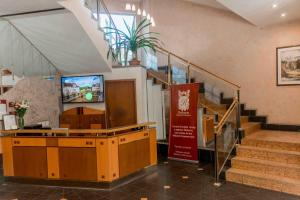The lobby or reception area at Reikartz Kremenchuk