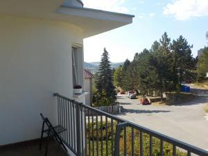 Balkón nebo terasa v ubytování Guest House Beroun