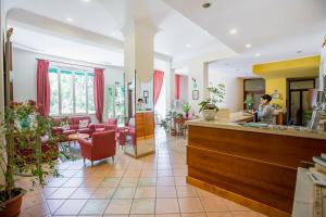 The lobby or reception area at Hotel Mediterraneo