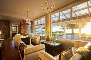 A seating area at Kaikoura Boutique Hotel